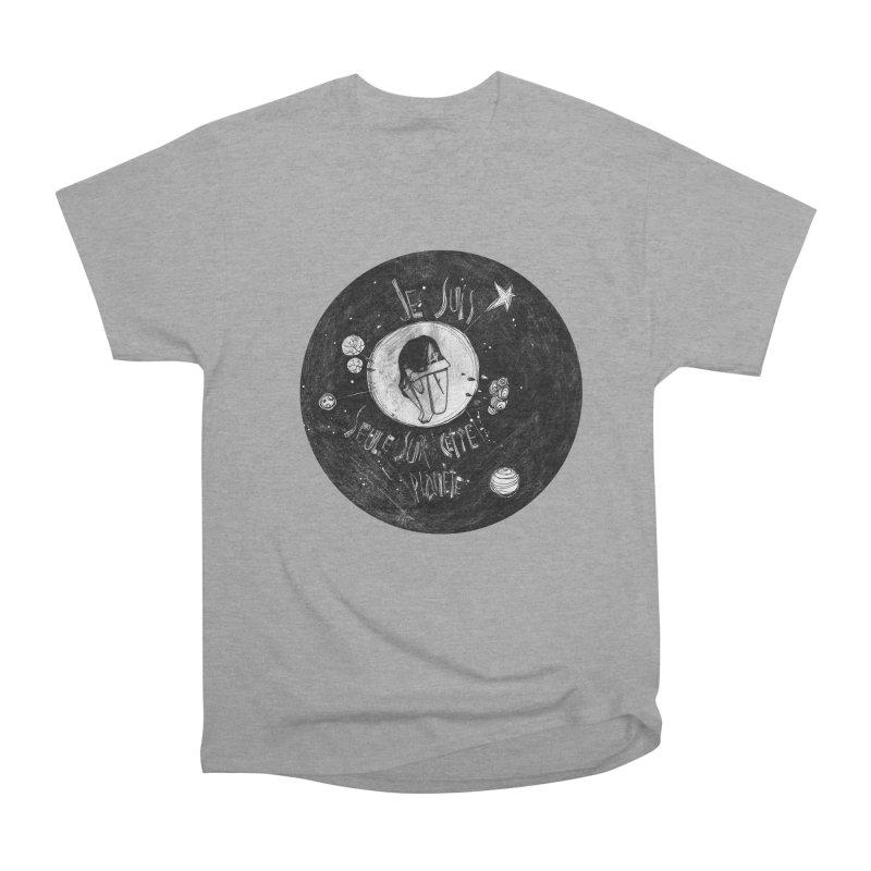 Planète (circle) Men's Heavyweight T-Shirt by ilustramar's Artist Shop
