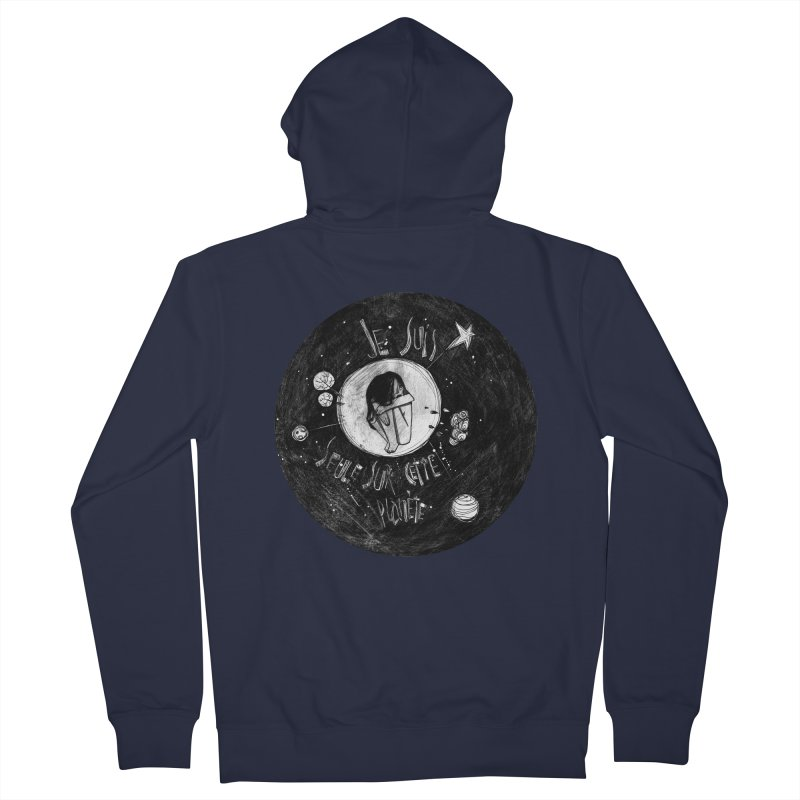 Planète (circle) Women's French Terry Zip-Up Hoody by ilustramar's Artist Shop