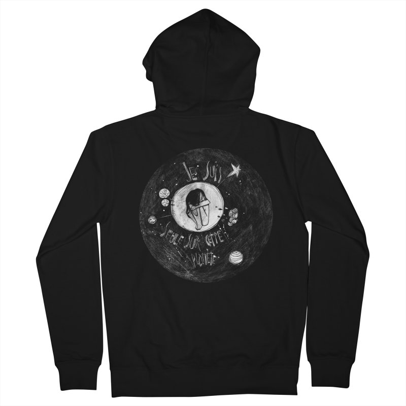 Planète (circle) Men's French Terry Zip-Up Hoody by ilustramar's Artist Shop