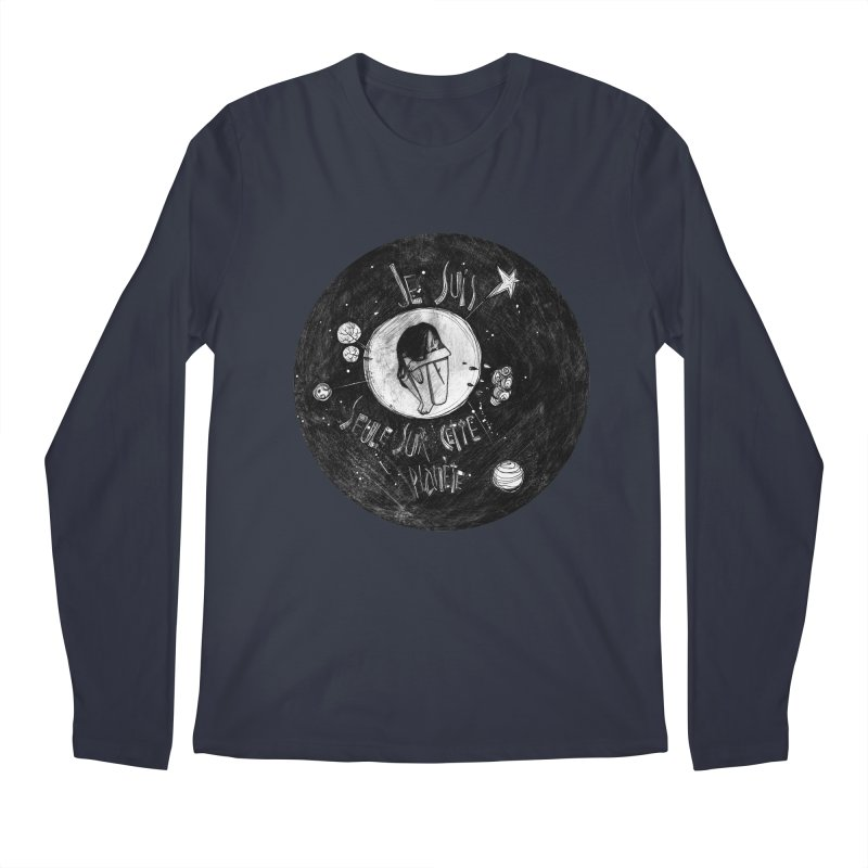Planète (circle) Men's Longsleeve T-Shirt by ilustramar's Artist Shop