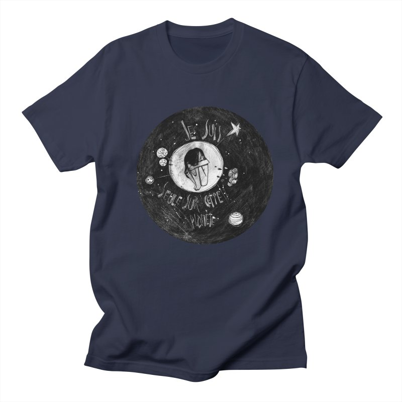 Planète (circle) Men's Regular T-Shirt by ilustramar's Artist Shop