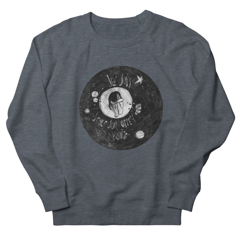 Planète (circle) Women's French Terry Sweatshirt by ilustramar's Artist Shop