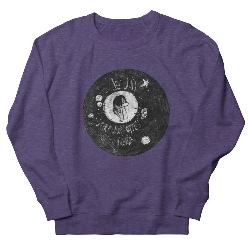 Planète (circle) Men's French Terry Sweatshirt by ilustramar's Artist Shop
