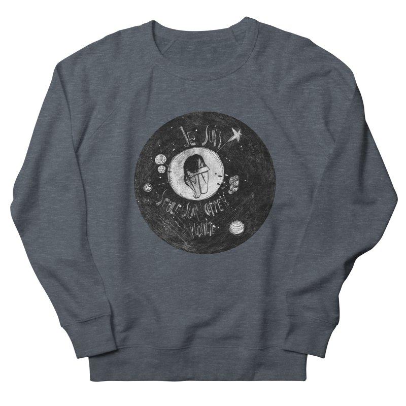 Planète (circle) Men's French Terry Sweatshirt by ilustramar's Artist Shop