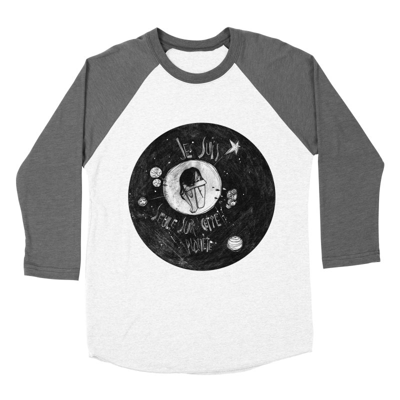 Planète (circle) Women's Baseball Triblend Longsleeve T-Shirt by ilustramar's Artist Shop
