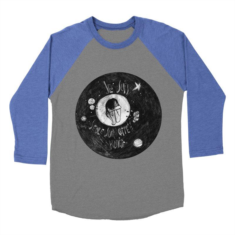 Planète (circle) Men's Baseball Triblend T-Shirt by ilustramar's Artist Shop