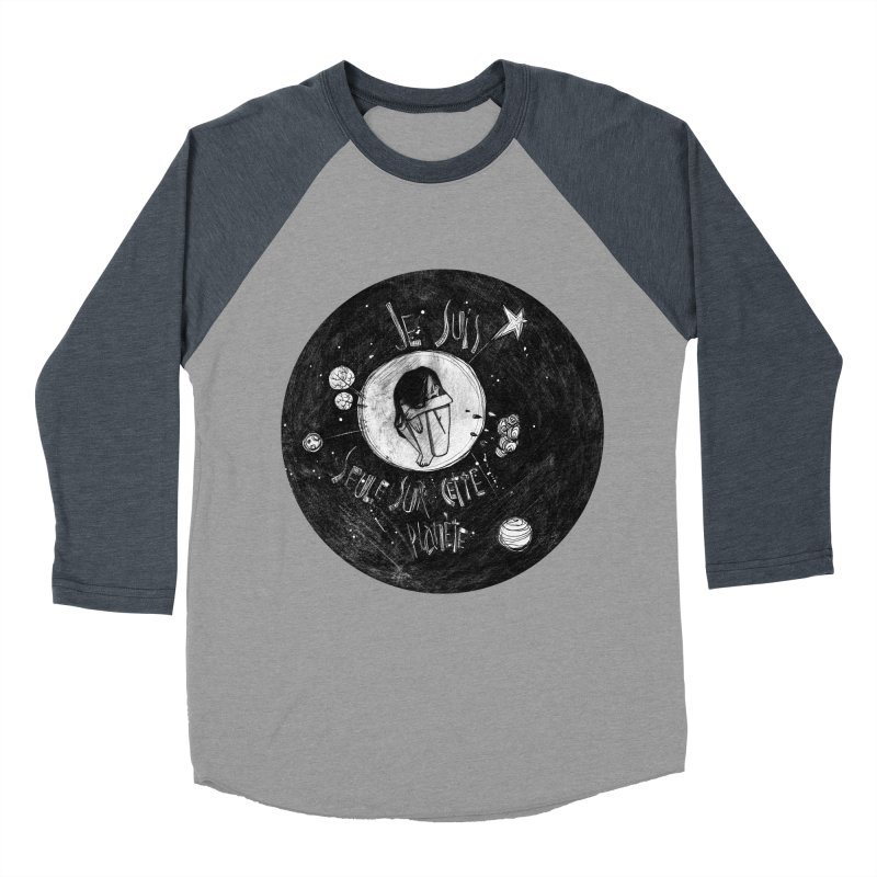 Planète (circle) Men's Baseball Triblend T-Shirt by ilustramar's Artist Shop