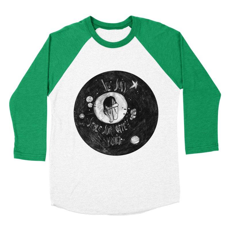 Planète (circle) Men's Baseball Triblend Longsleeve T-Shirt by ilustramar's Artist Shop