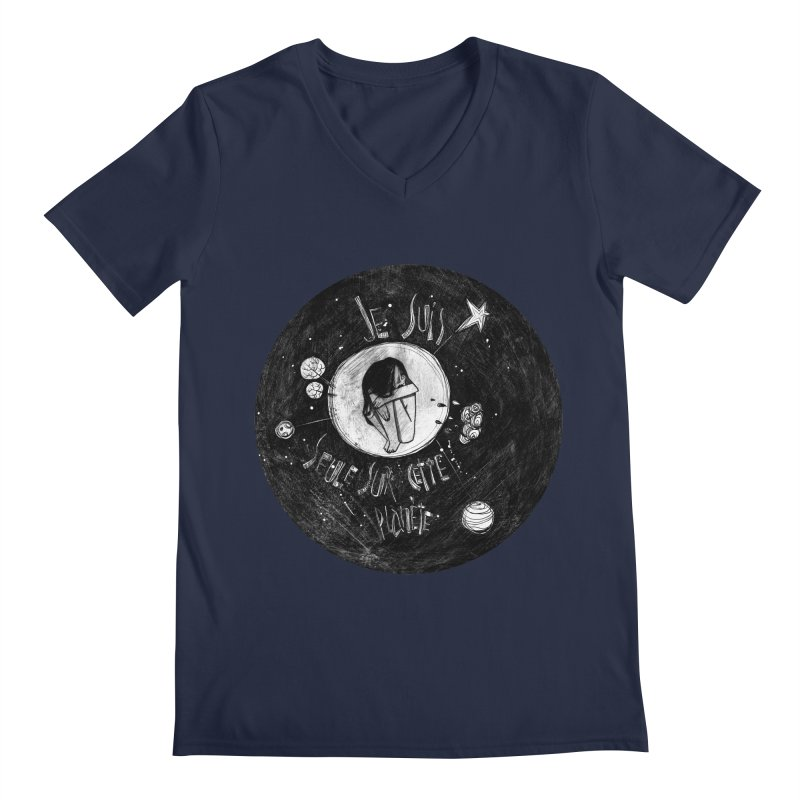 Planète (circle) Men's V-Neck by ilustramar's Artist Shop