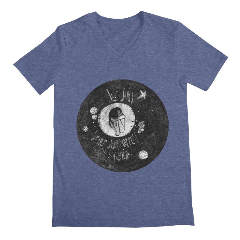 Planète (circle) Men's Regular V-Neck by ilustramar's Artist Shop