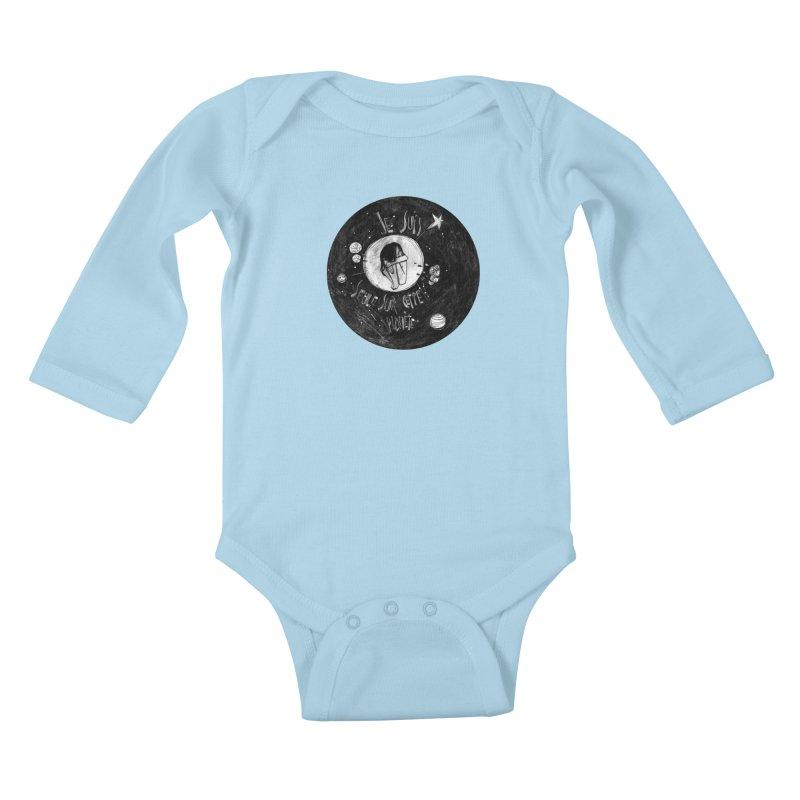 Planète (circle) Kids Baby Longsleeve Bodysuit by ilustramar's Artist Shop