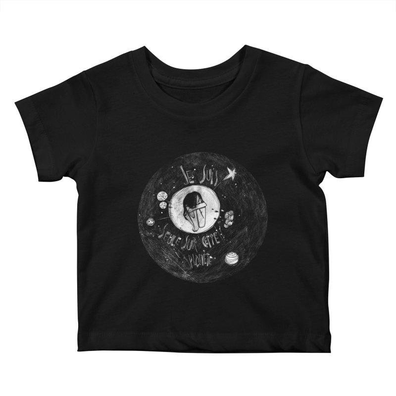 Planète (circle) Kids Baby T-Shirt by ilustramar's Artist Shop