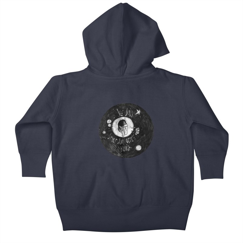 Planète (circle) Kids Baby Zip-Up Hoody by ilustramar's Artist Shop