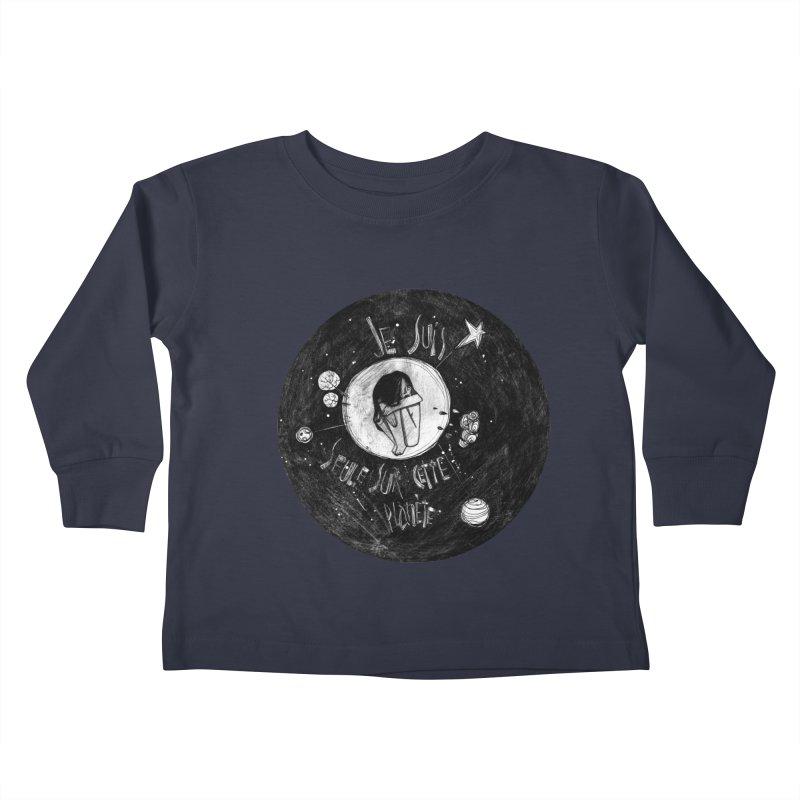 Planète (circle) Kids Toddler Longsleeve T-Shirt by ilustramar's Artist Shop