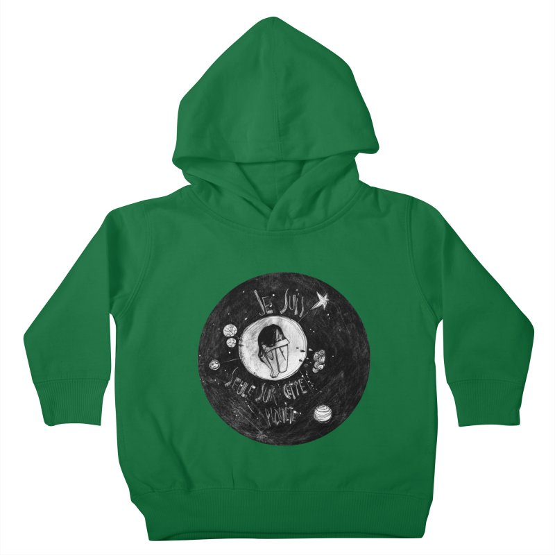 Planète (circle) Kids Toddler Pullover Hoody by ilustramar's Artist Shop