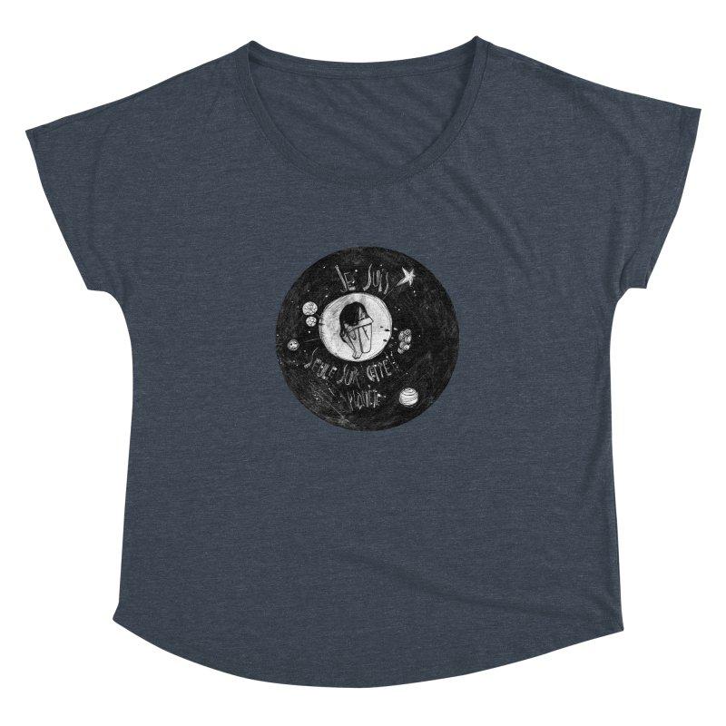 Planète (circle) Women's Dolman Scoop Neck by ilustramar's Artist Shop