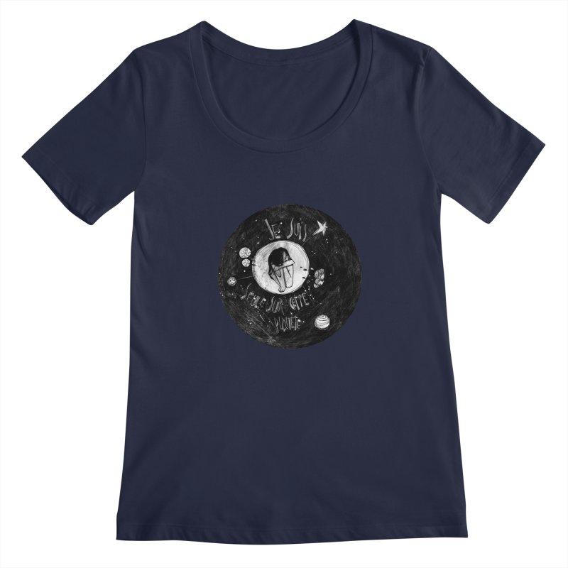 Planète (circle) Women's Regular Scoop Neck by ilustramar's Artist Shop