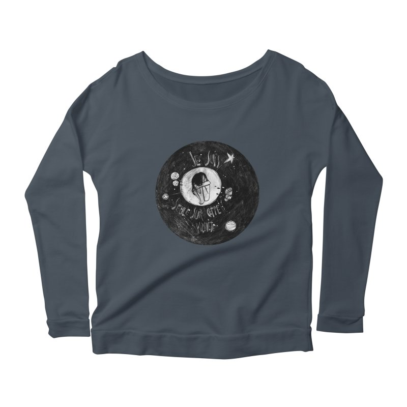 Planète (circle) Women's Scoop Neck Longsleeve T-Shirt by ilustramar's Artist Shop
