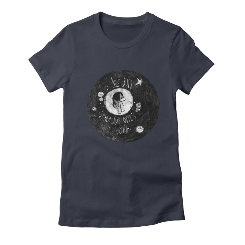 Planète (circle) Women's Fitted T-Shirt by ilustramar's Artist Shop