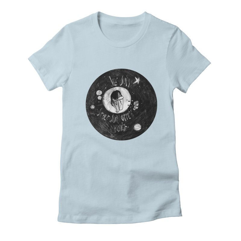 Planète (circle) Women's Fitted T-Shirt by ilustramar's Artist Shop