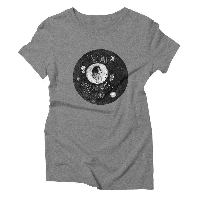 Planète (circle) Women's Triblend T-Shirt by ilustramar's Artist Shop