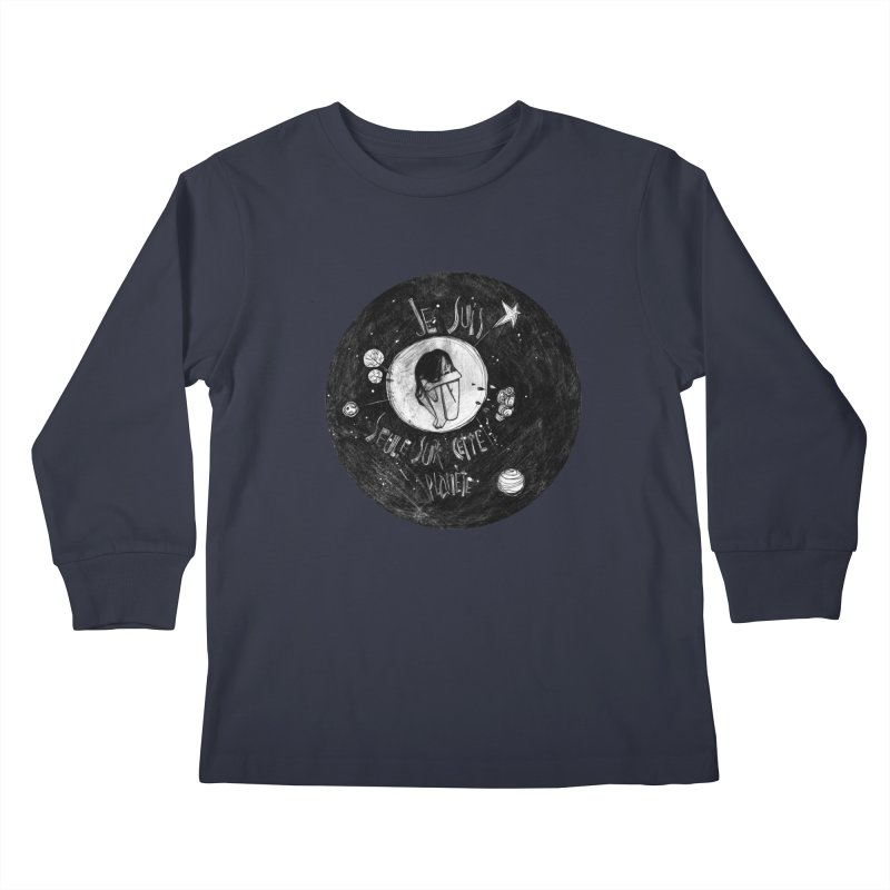 Planète (circle) Kids Longsleeve T-Shirt by ilustramar's Artist Shop
