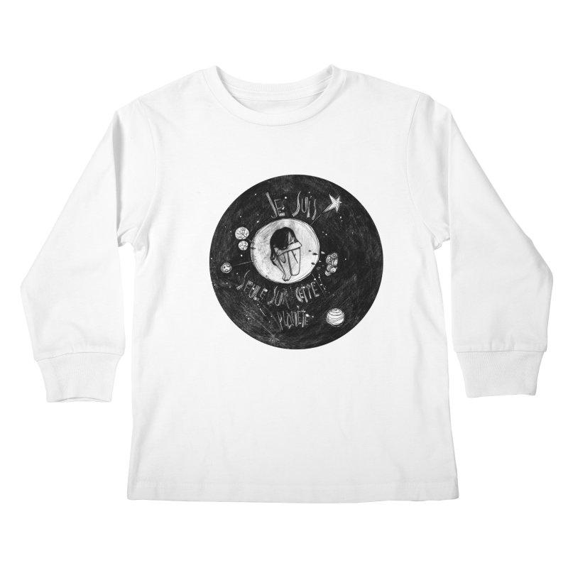 Planète (circle) Kids Longsleeve T-Shirt by ilustramar's Artist Shop
