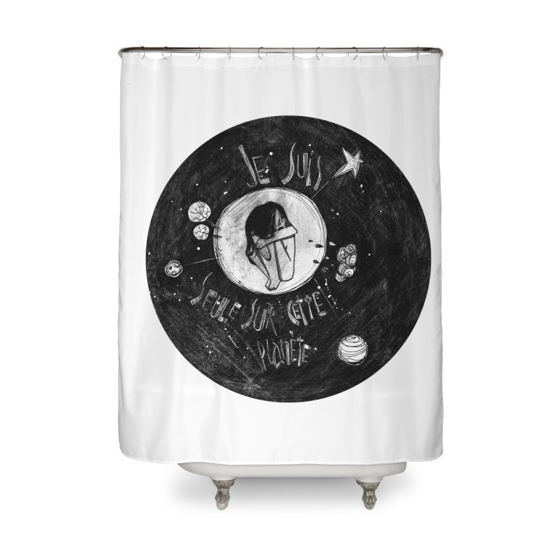 Planète (circle) Home Shower Curtain by ilustramar's Artist Shop