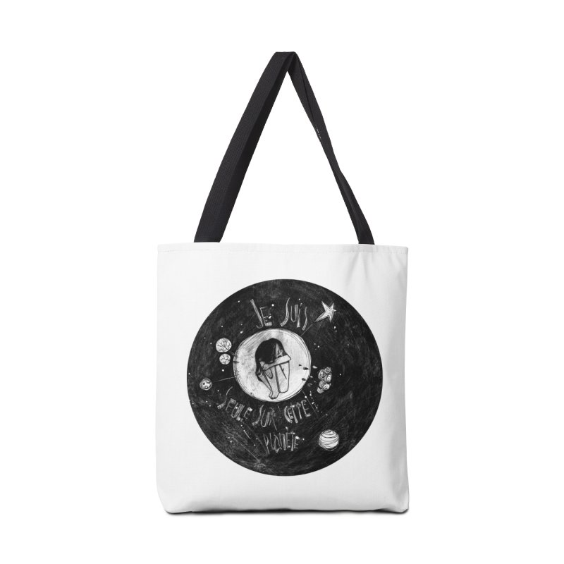 Planète (circle) Accessories Tote Bag Bag by ilustramar's Artist Shop