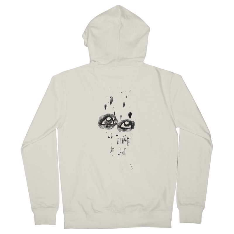 Tempête Women's French Terry Zip-Up Hoody by ilustramar's Artist Shop