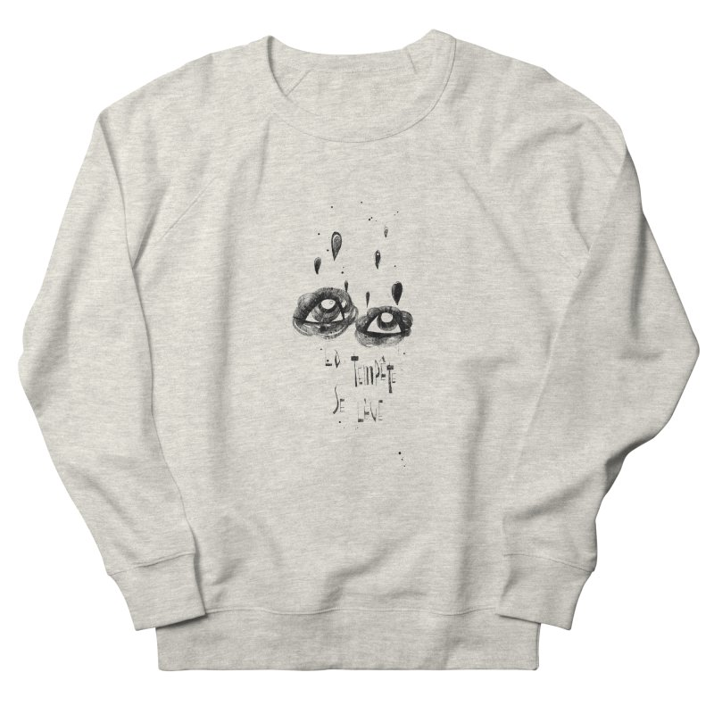 Tempête Women's French Terry Sweatshirt by ilustramar's Artist Shop