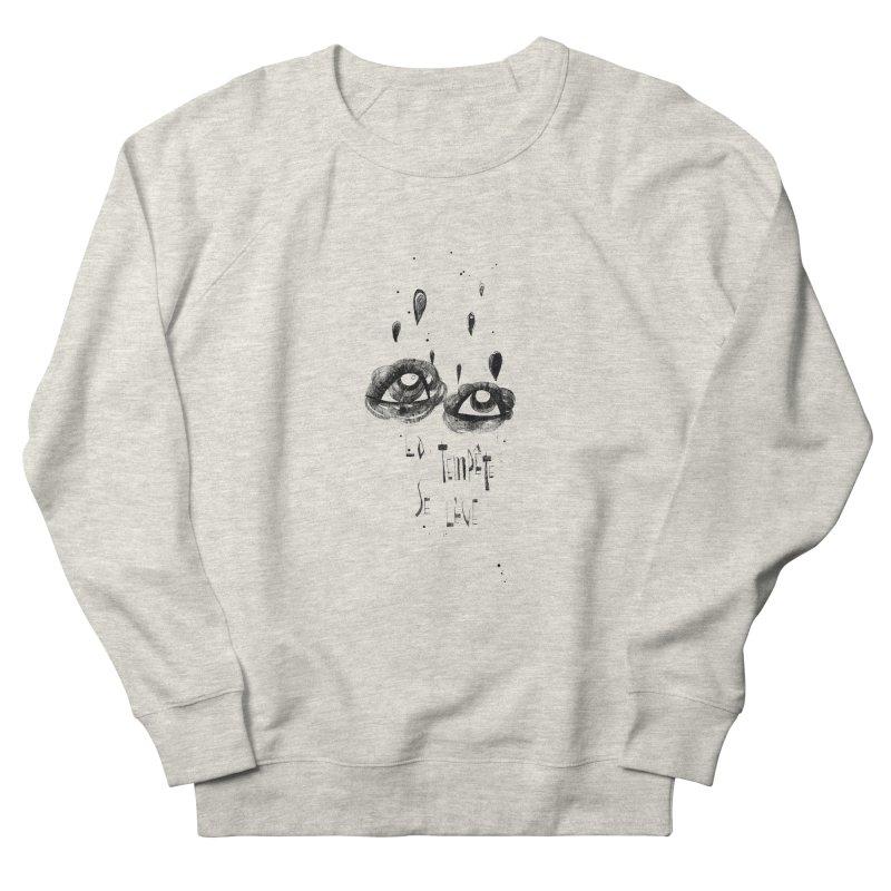 Tempête Men's French Terry Sweatshirt by ilustramar's Artist Shop