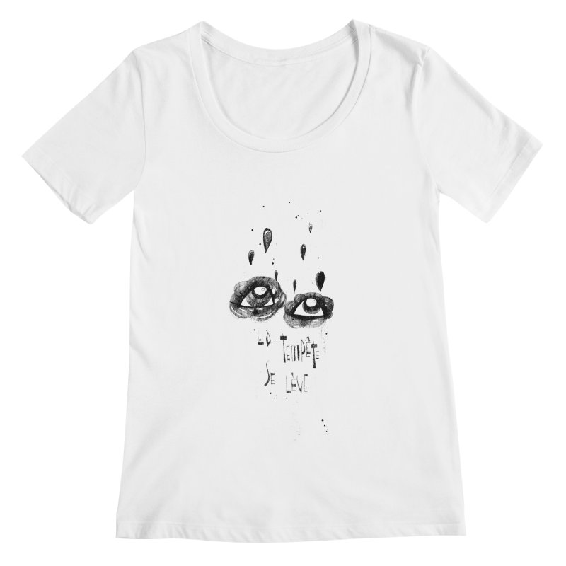 Tempête Women's Scoop Neck by ilustramar's Artist Shop