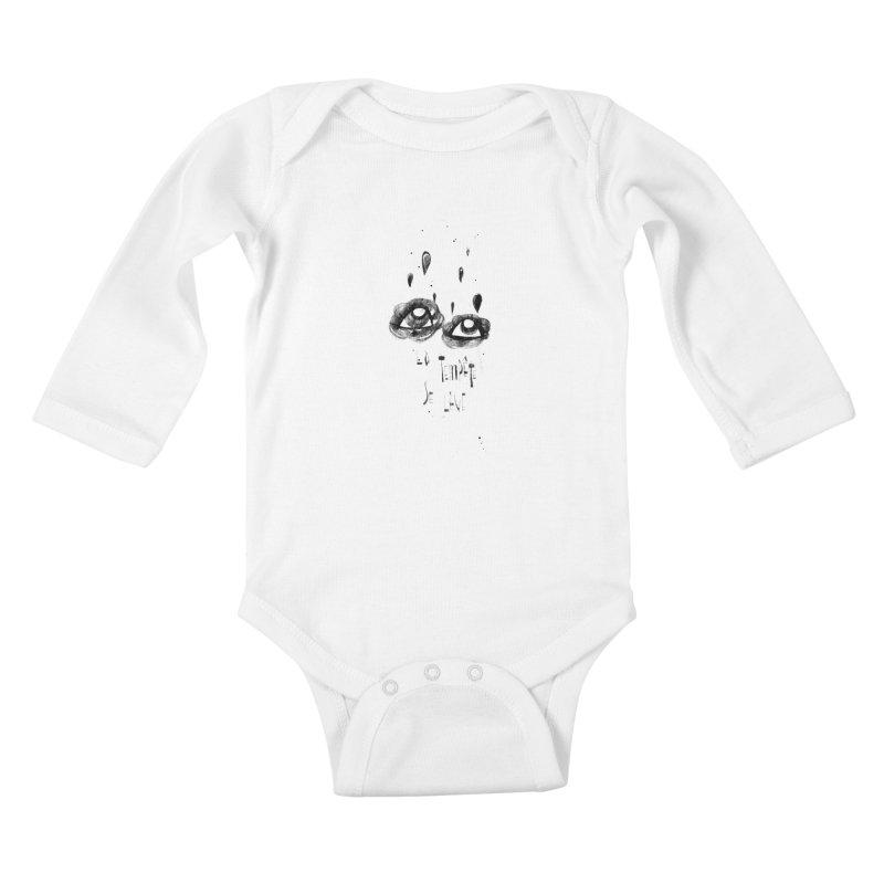 Tempête Kids Baby Longsleeve Bodysuit by ilustramar's Artist Shop