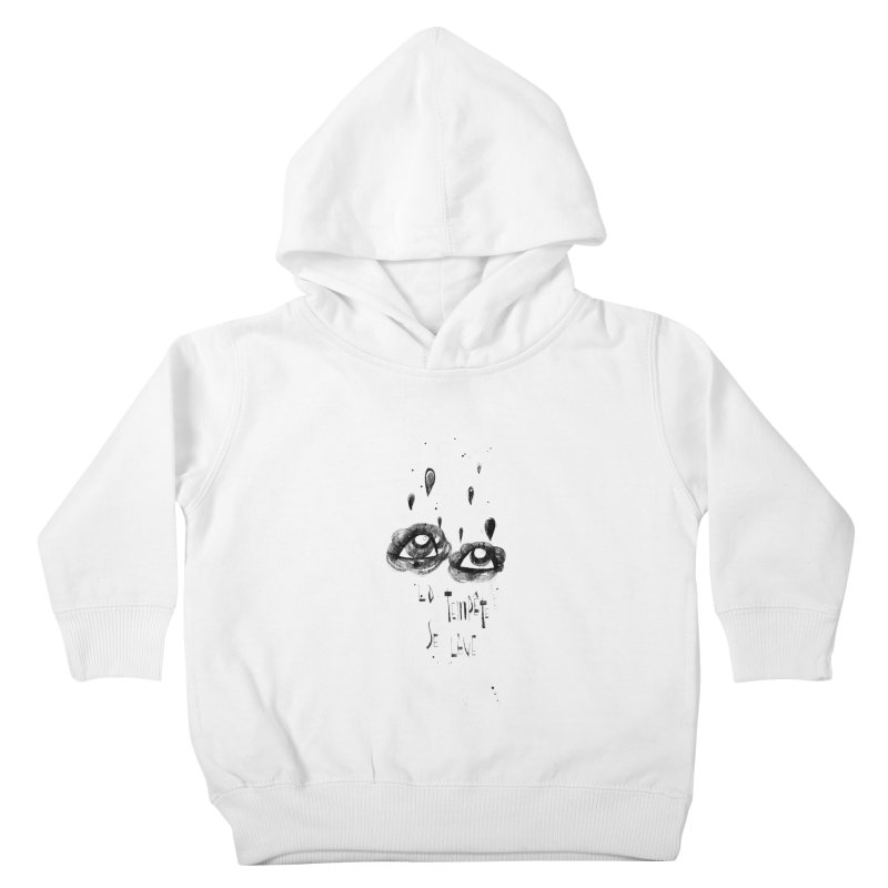 Tempête Kids Toddler Pullover Hoody by ilustramar's Artist Shop
