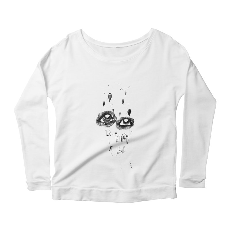 Tempête Women's Scoop Neck Longsleeve T-Shirt by ilustramar's Artist Shop