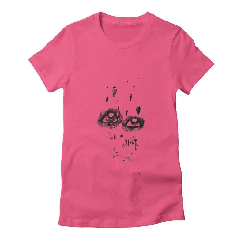 Tempête Women's Fitted T-Shirt by ilustramar's Artist Shop