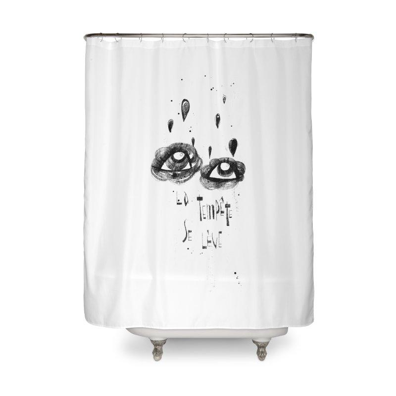 Tempête Home Shower Curtain by ilustramar's Artist Shop