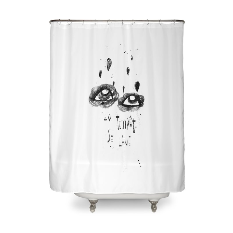 Tempête Home Shower Curtain by ilustramar's Artist Shop