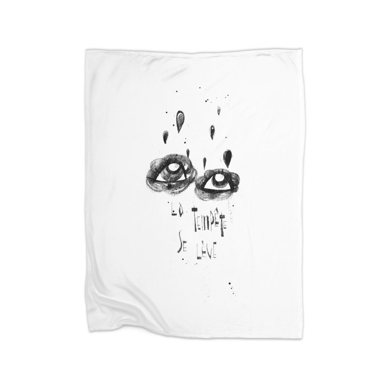 Tempête Home Blanket by ilustramar's Artist Shop