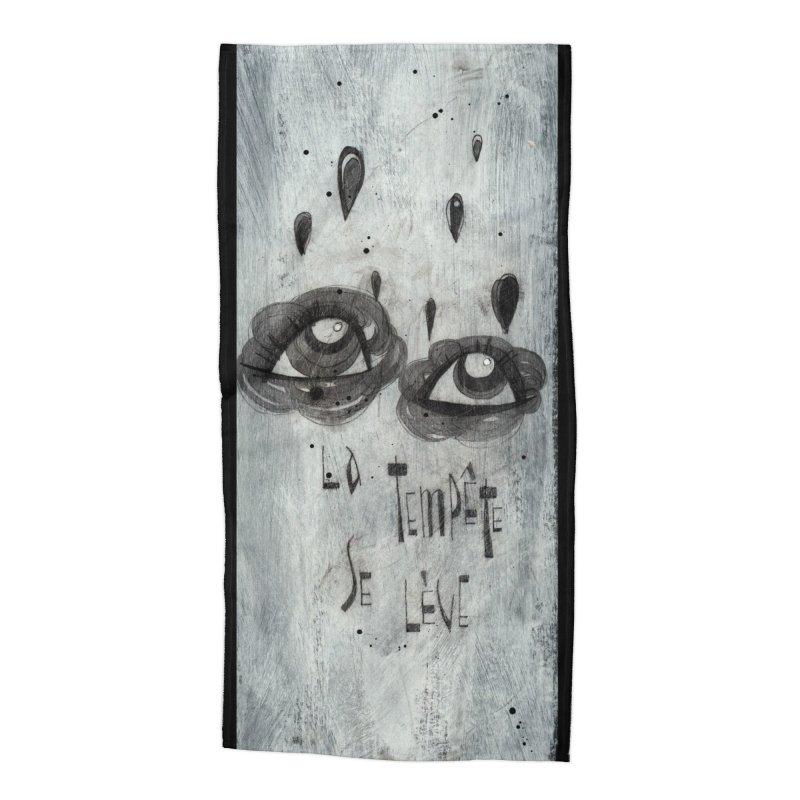 Tempête (background) Accessories Beach Towel by ilustramar's Artist Shop