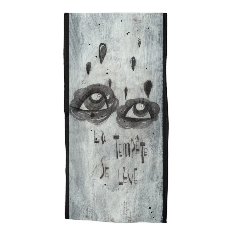 Tempête (background) Accessories Beach Towel by ilustramar's Artist Shop