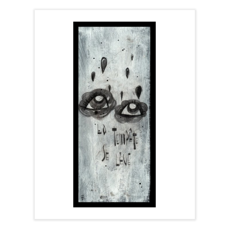 Tempête (background) Home Fine Art Print by ilustramar's Artist Shop