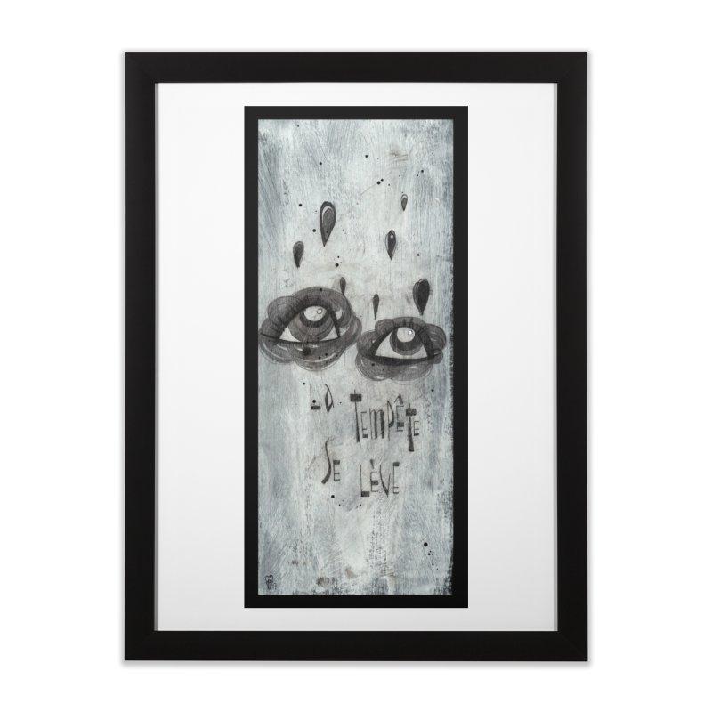 Tempête (background) Home Framed Fine Art Print by ilustramar's Artist Shop