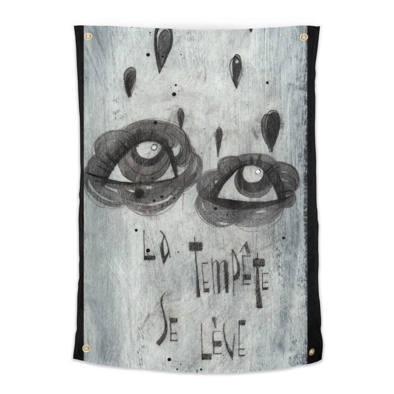 Tempête (background) Home Tapestry by ilustramar's Artist Shop