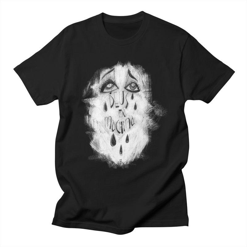 Deus Ex Machina (black) Men's T-Shirt by ilustramar's Artist Shop