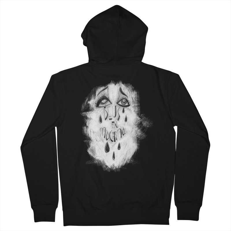 Deus Ex Machina (black) Women's French Terry Zip-Up Hoody by ilustramar's Artist Shop
