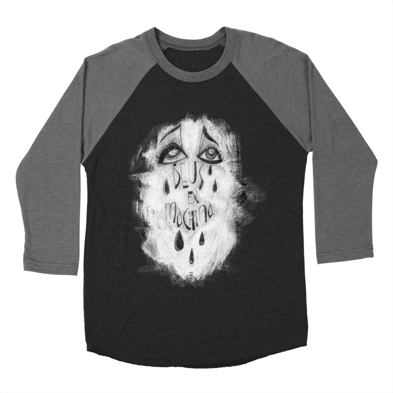Deus Ex Machina (black) Women's Baseball Triblend T-Shirt by ilustramar's Artist Shop