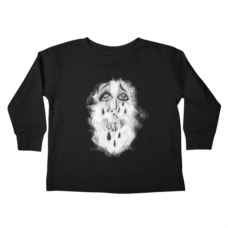 Deus Ex Machina (black) Kids Toddler Longsleeve T-Shirt by ilustramar's Artist Shop