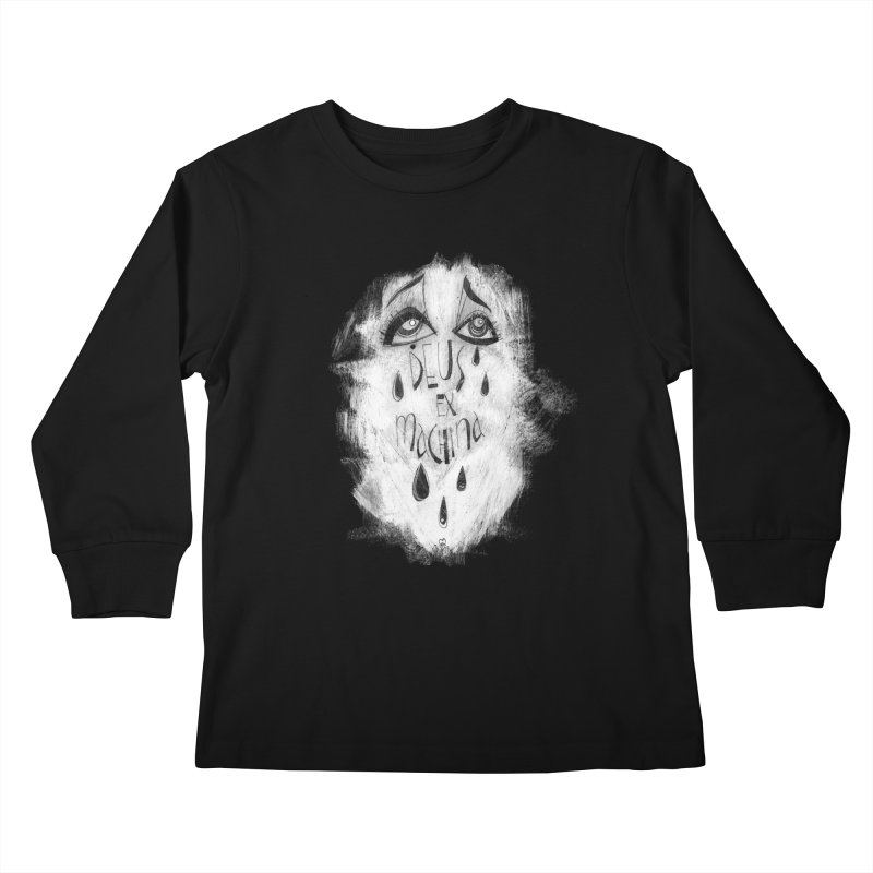 Deus Ex Machina (black) Kids Longsleeve T-Shirt by ilustramar's Artist Shop